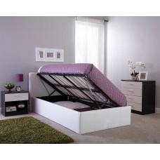 Caspian® balta ādas gulta 120 x 190 cm