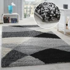 Ayleen Shag Grey/Black paklājs 160 x 220 cm