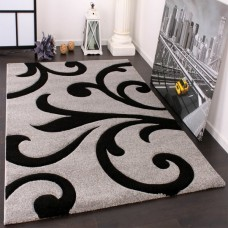 Charli Grey/Black paklājs 80 x 150 cm