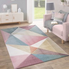 Galloway Pink/Blue paklājs 120 x 170 cm