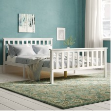 Balta koka gulta 135 x 190 cm