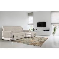 Pretslīdes dīvāna pārvalks 290 cm, bēšā krāsā