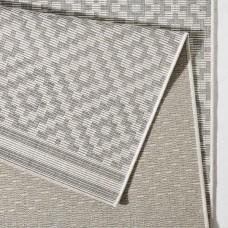 Meadow Flatweave Grey/Cream paklājs 160 x 230 cm