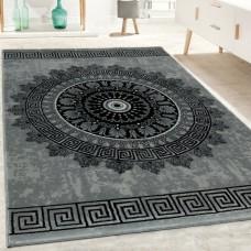Burslem melns / pelēks paklājs 200 x 290 cm