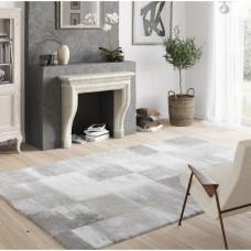Melodi High Pile Fading Blocks White/Grey paklājs 120 x 170 cm