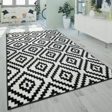 Jerrold Shag Black/White paklājs 120 x 170 cm