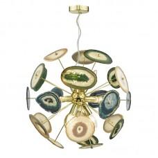 Mclain, Achates Gold & Agate  9-gaismu lustra-zelts un ahāts