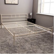 Metāla gulta CREAM 135 x 190 cm