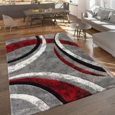Grey/red paklājs 80 x 150 cm