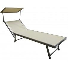 Sauļošanās gulta ar jumtiņu