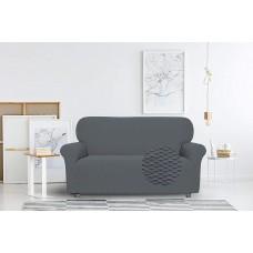 Divpusējs dīvāna pārvalks- 120 līdz 160 cm, tumši pelēks