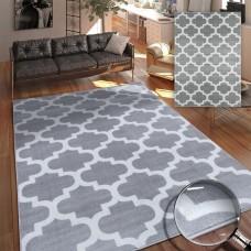 Thelma sudraba / balts paklājs 120 x 170 cm