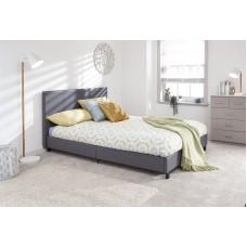 Mākslīgās ādas gulta Grey- 120 x 190 cm