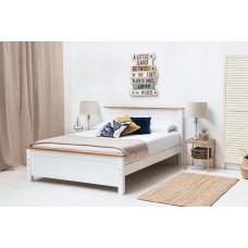 Rostherne balta masīva koka gulta 135 x 190 cm
